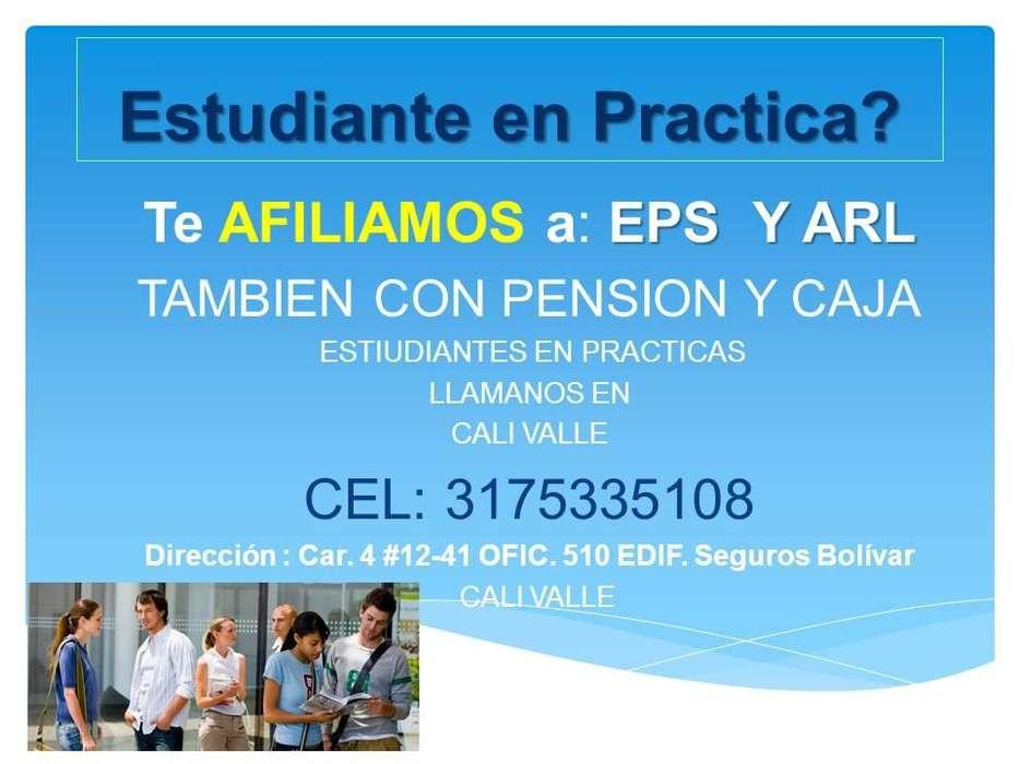 PARA ESTUDIANTES EN PRACTICAS AFILIACION EPS Y ARL