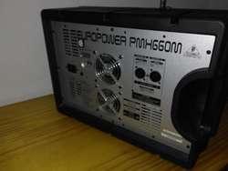 Cabezal Potenciado Europower Pmh660m Behringer 6 Canales Fx