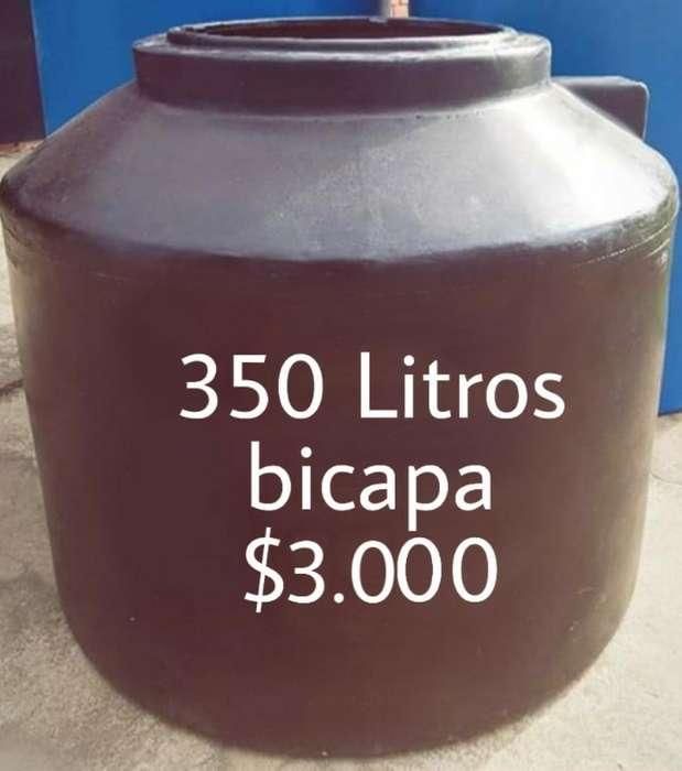 .tanque 350 Litros Bicapa 3.000