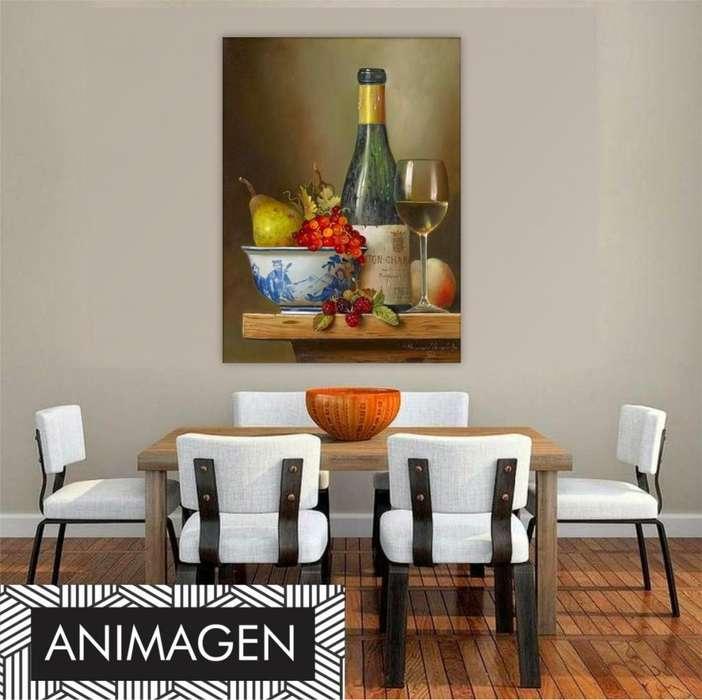 Cuadro decorativo de vino 2392