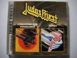 judas priest screaming for vengeance / turbo cd 2 en 1 nuevo