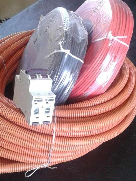 Pack 2 Rollos Cables 2,5mm /1 Termica y 1 Corrugado 3/4 / Materiales Electricos / Envios La Plata s/c