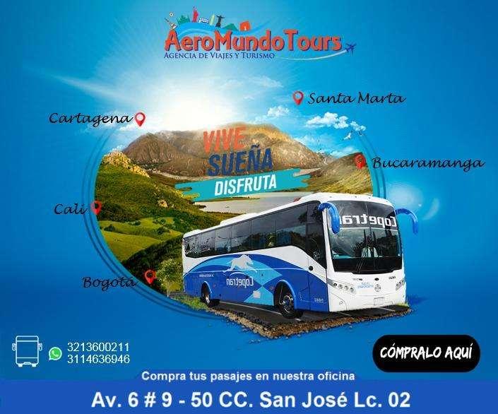 COMPRA TUS TIQUETES TERRESTRES DE COPETRAN CON AEROMUNDO TOURS.