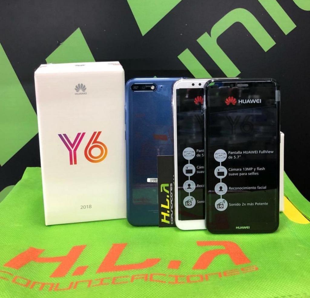 Huawei Y6 2018 nuevos factura garantía domicilio sin costo HLACOMUNICACIONES
