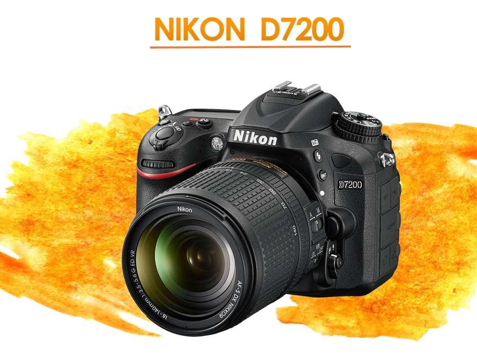 NUEVA !! Nikon D7200 LENTE 18.140 WIFI FULL HD GARANTIA 1 AÑO
