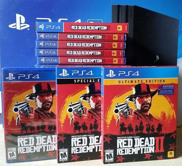 Red Dead Redemption 2 Ps4 Nuevo Sellado Stock