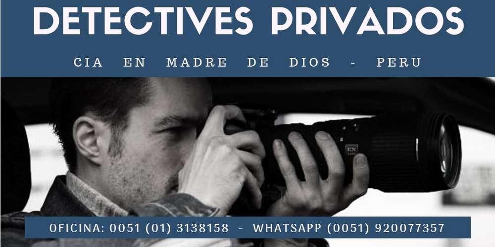 AGENCIA DE DETECTIVES PRIVADOS EN MADRE DE DIOS PERU