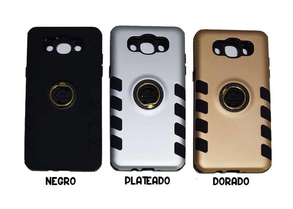 Funda Rigida Anillo 360º Samsung J2 Prime Vidrio Templado