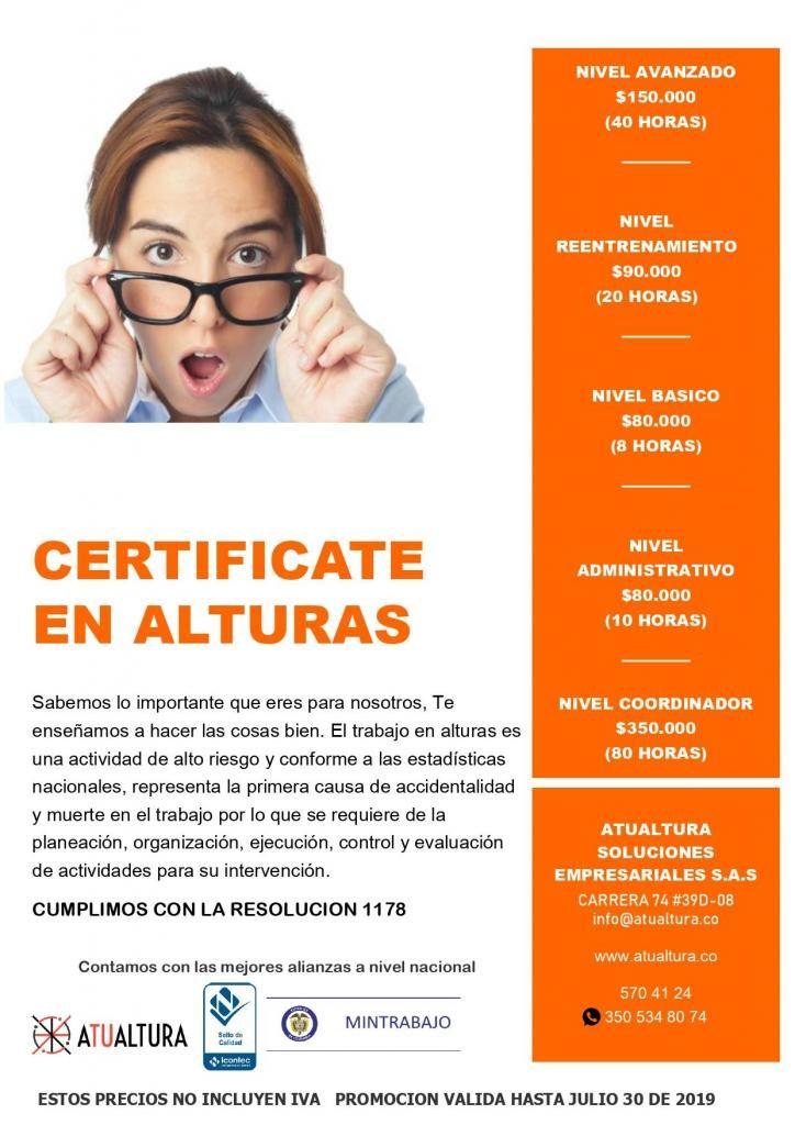 Curso Y Certificación Alturas
