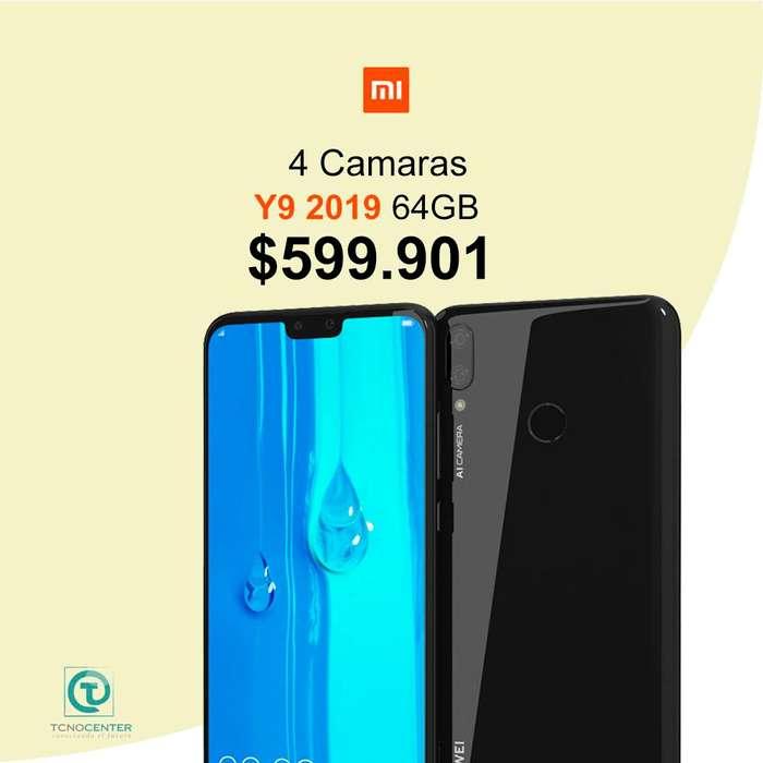 Huawei Y9 2019 64GB, nuevos, TIENDA FISICA, garantía, Factura, 4 camaras.