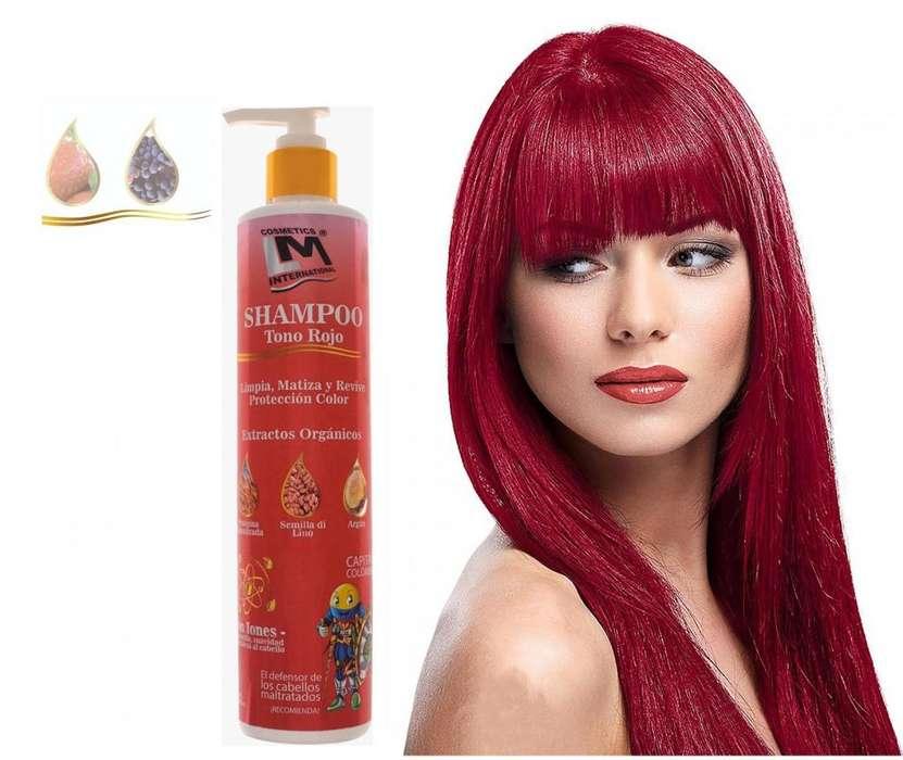 Shampoo Tono Rojo Con Iones Negativos LM x 340ml