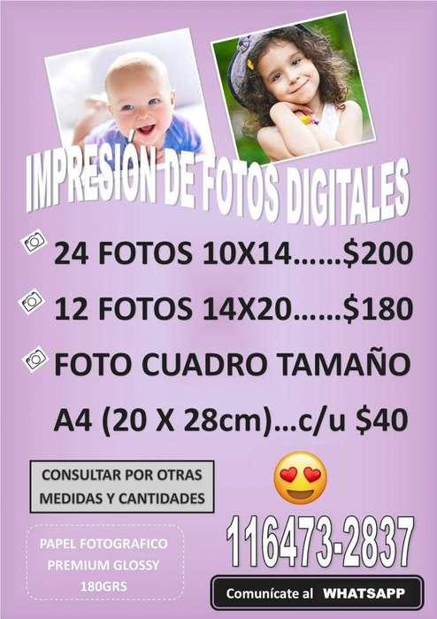 IMPRESIÓN DE FOTOS DIGITALES