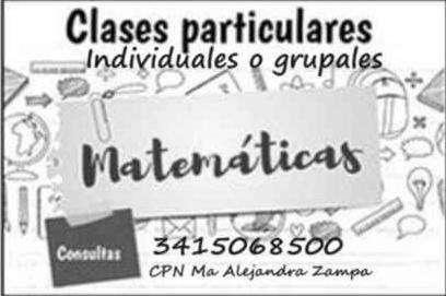 Clases PARTICULARES MATEMÁTICAS TODOS LOS NIVELES, Rosario, Macrocentro.