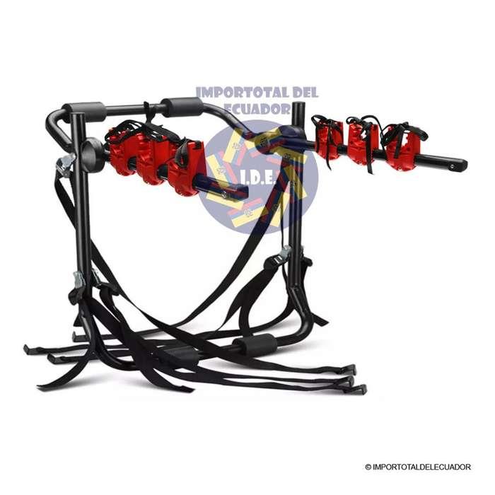 Porta bicicletas universal ''nuevo'' tubos de de acero para 1 a 3 bicicletas / Resiste 99 libras / No page mas 28 usd