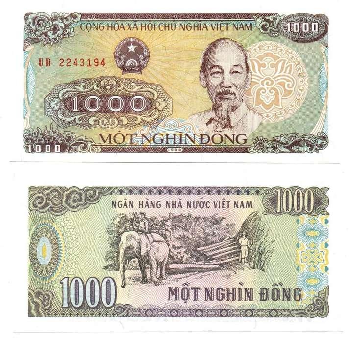 VIETNAM. BILLETE. 1000 DONG. 1988. TIPO A. ESTADO 9 DE 10. VALOR 4400