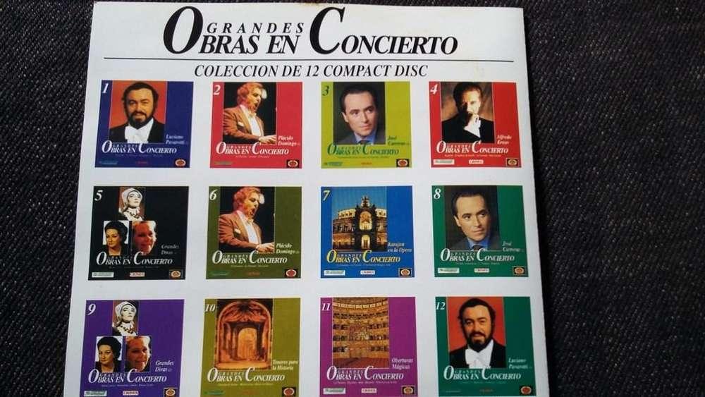 12 grandes obras en concierto clasica X12 cds coleccion completa
