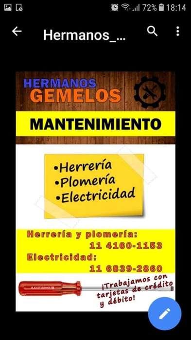 Electricidad. Plomeria Herreria