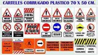 CARTELES de Plástico Corrugado 50x70 con Varios Motivos.