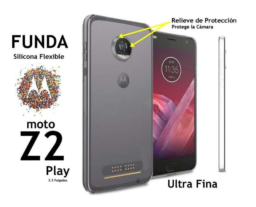 Funda Silicona Flexible Motorola Moto Z2 Play Rosario