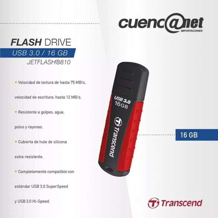 Jetflash 16gb Usb 3.0 Ts16gjf810 Transcend