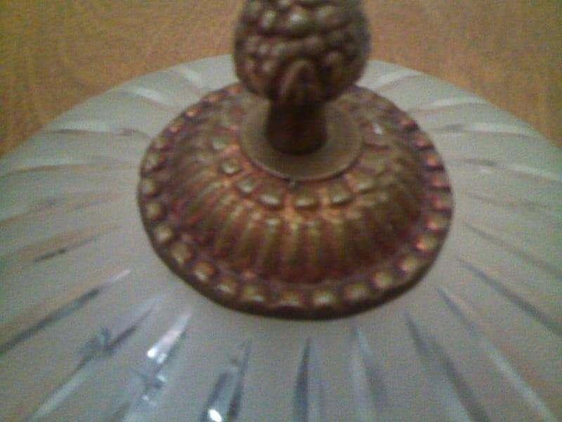 Plafón de estilo - Bronce y cristal tallado