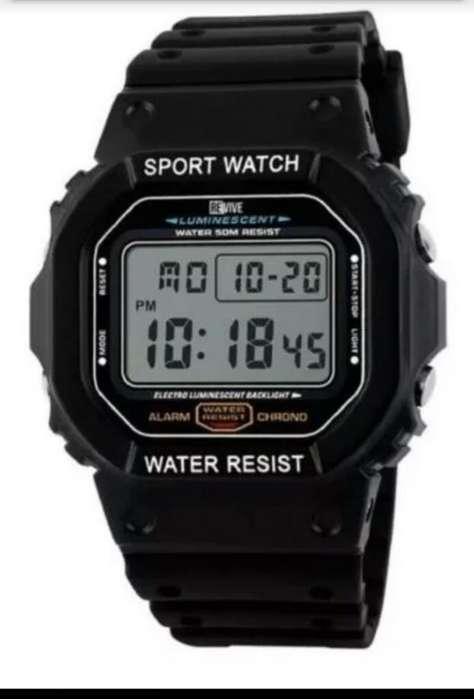 Reloj Dijital Color Negro Mate