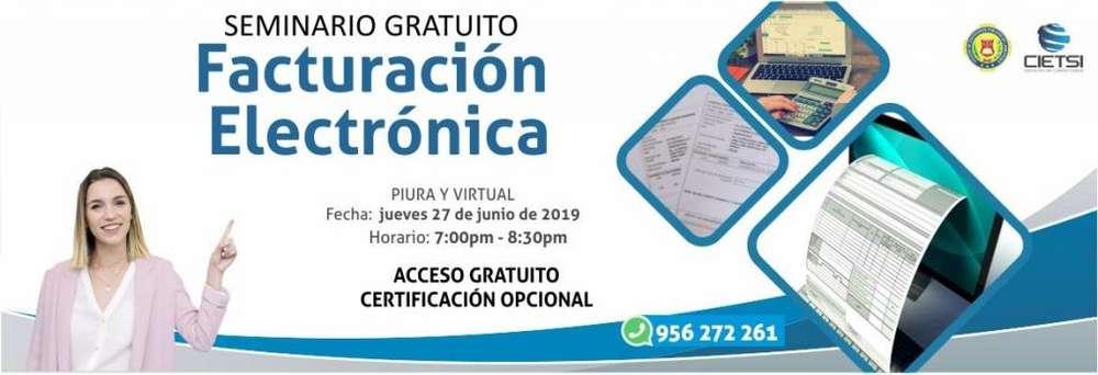 SEMINARIO GRATUITO FACTURACIÓN ELECTRÓNICA 2019 2DA EDICIÓN (NUEVO)
