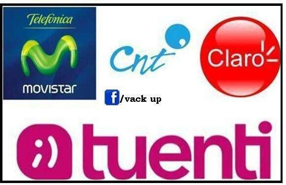 Chip Movistar, Tuenti, Claro, Cnt