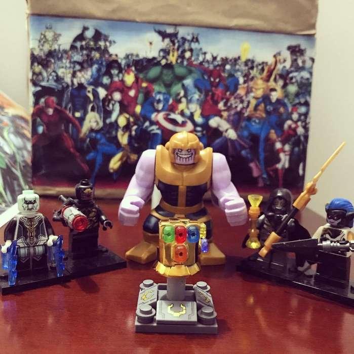 Marvel Los vengadores minifiguras tipo lego