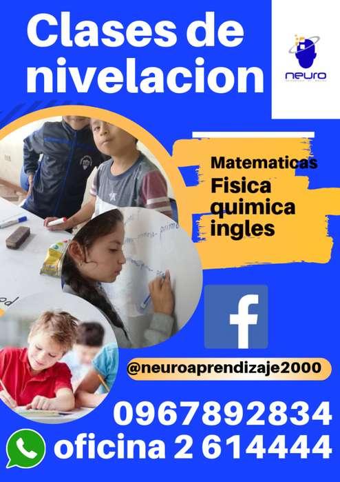 CLASES DE NIVELACION EN TODAS LAS MATERIAS!! 0967892834 - 2614444