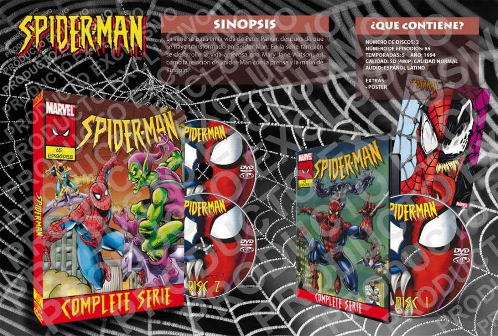 Spiderman 1994 Serie Animada Completa Latino