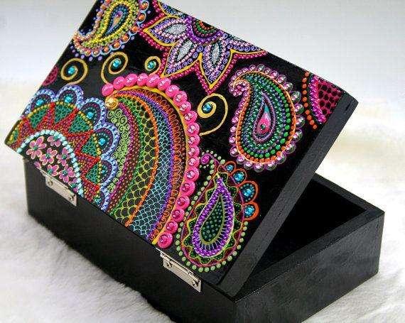 Cajas de Madera Personalizadas Mandala (hechas por mi)
