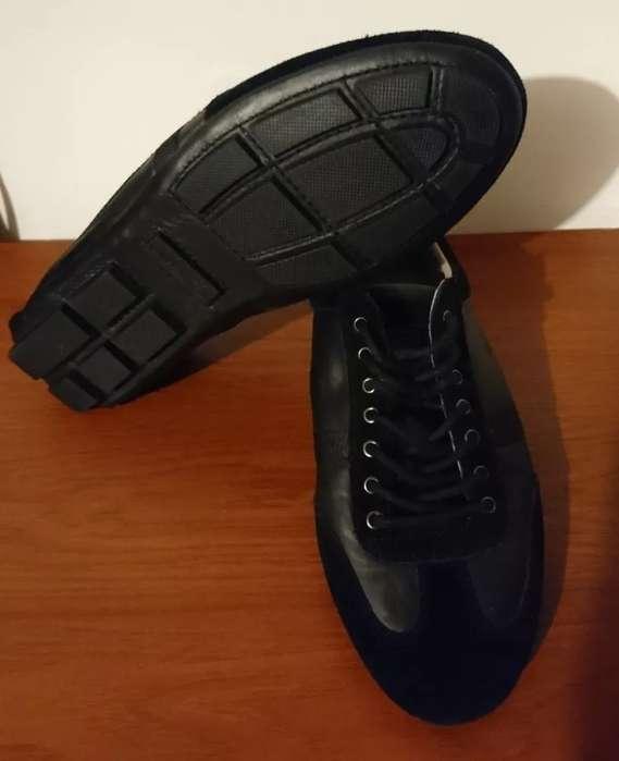 Zapatos Lacoste, Cuero Negro