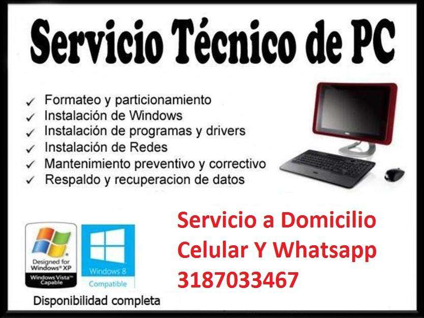 MANTENIMIENTO SERVICIO TECNICO COMPUTADORES DOMICILIO
