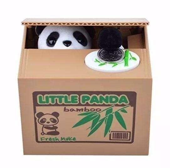 Alcancía Osito Panda Roba Monedas
