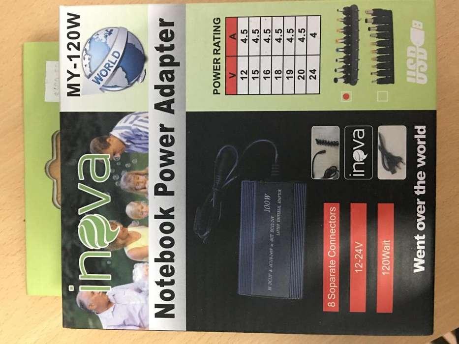 Cargador Notebook, fuente Universal 120w De 12v A 24v 9pines