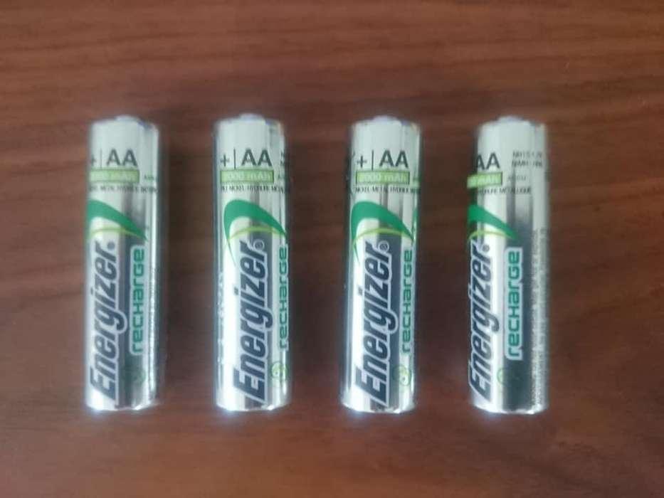 4 Pilas Recargables Energizer Aa Nuevas Garantizadas