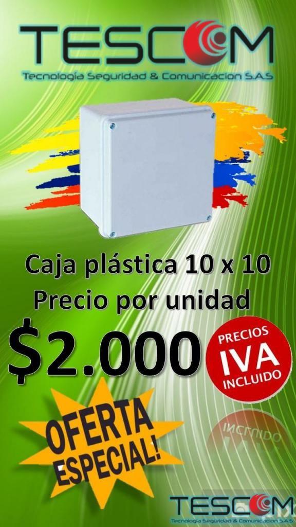 CAJA PLASTICA 10X10 UNIDAD