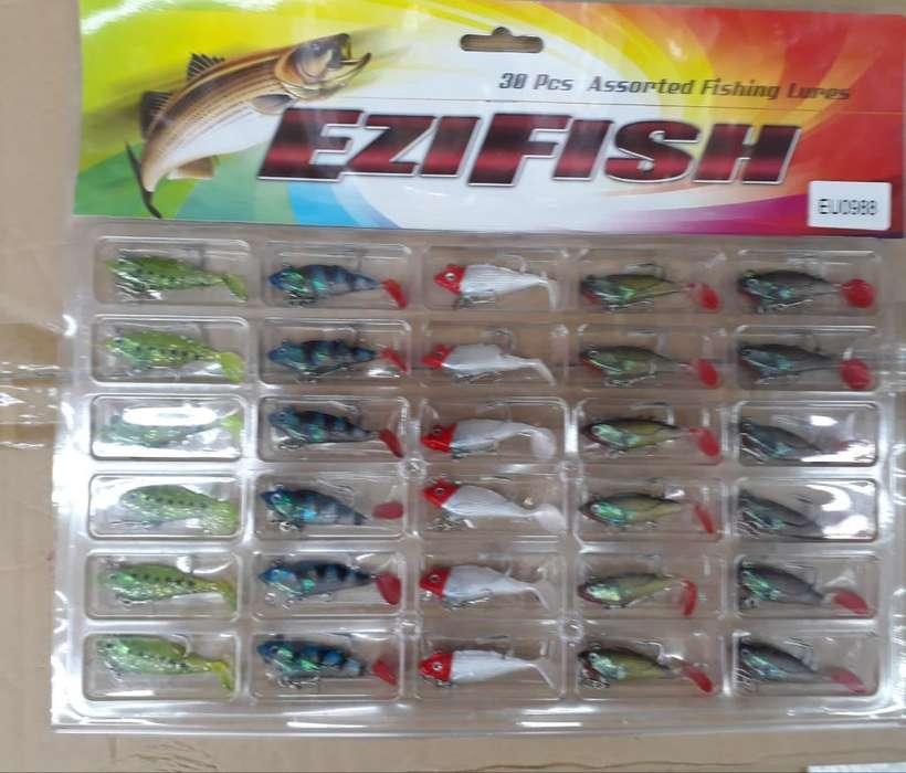 Señuelos de Pesca X Unidad Anzuelos Pez