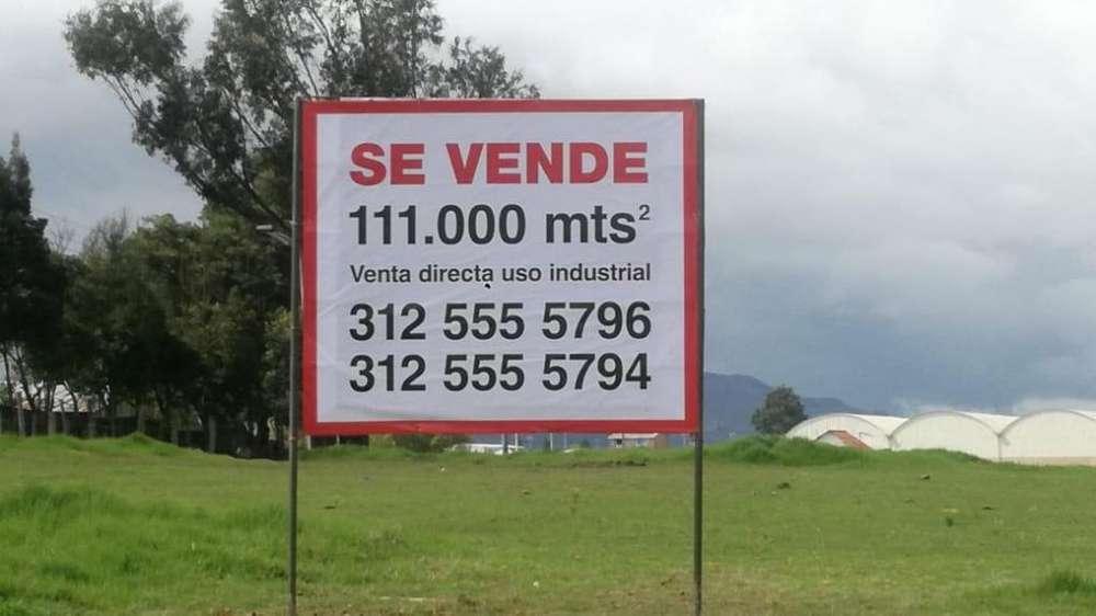 Oportunidad, Venta Lote Zona Industrial Tocancipa 111.000mts2, con vias excelentes de acceso