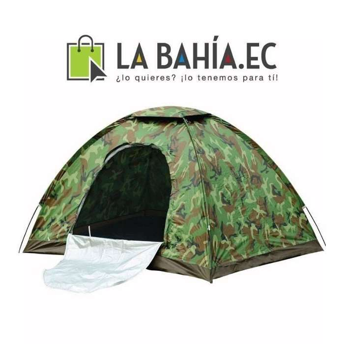 Carpa para <strong>camping</strong> o playa de 4 personas impermeable con mosquitero