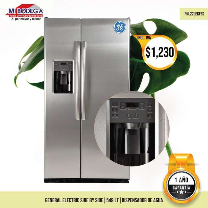 <strong>refrigerador</strong> General Electric Side by Side con dispensador 549 L PNL22LEKFSS GE