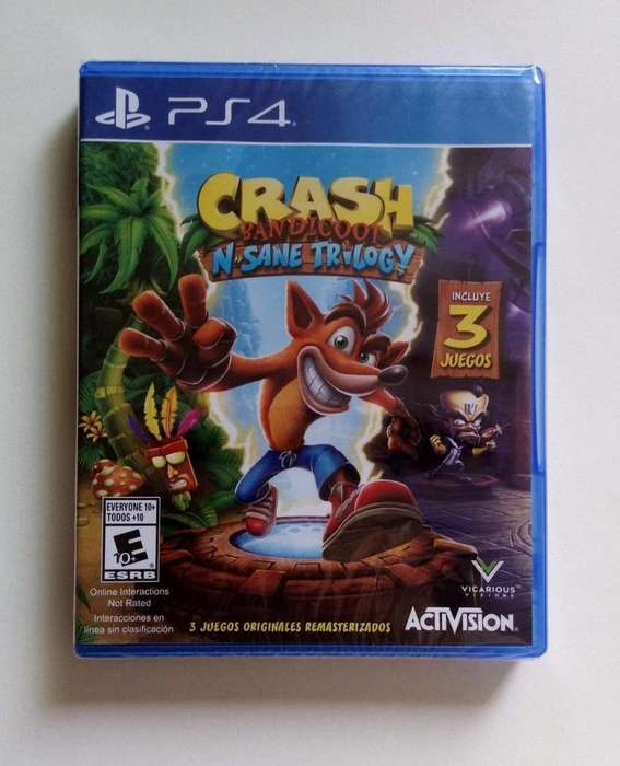 PS4 CRASH BANDICOOT 3 NUEVO SELLADO , PLAY STATION 4 , TIENDATOPMK