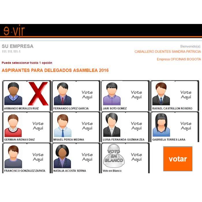 VOTACION ELECTRONICA ELECCION VIRTUAL