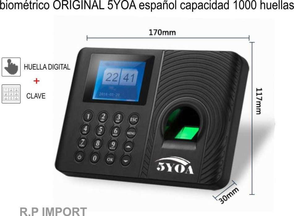 Reloj Control De Asistencia Biometrico 5YOA Huella Digital 2019
