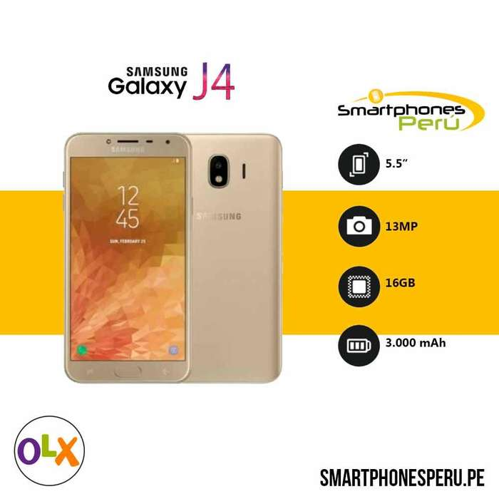 Celulares Samsung Galaxy J4 16GB •4GG RAM• Smartphonesperu.pe