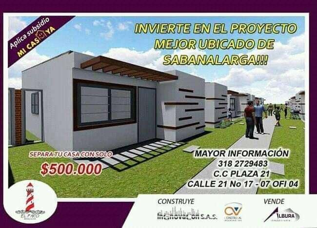 URBANIZACION EL FARO INF:3024573391 APLICA SUBSIDIO