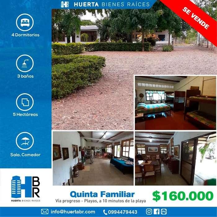 en venta Hermosa <strong>quinta</strong> Familiar en Vía Progreso - Playas