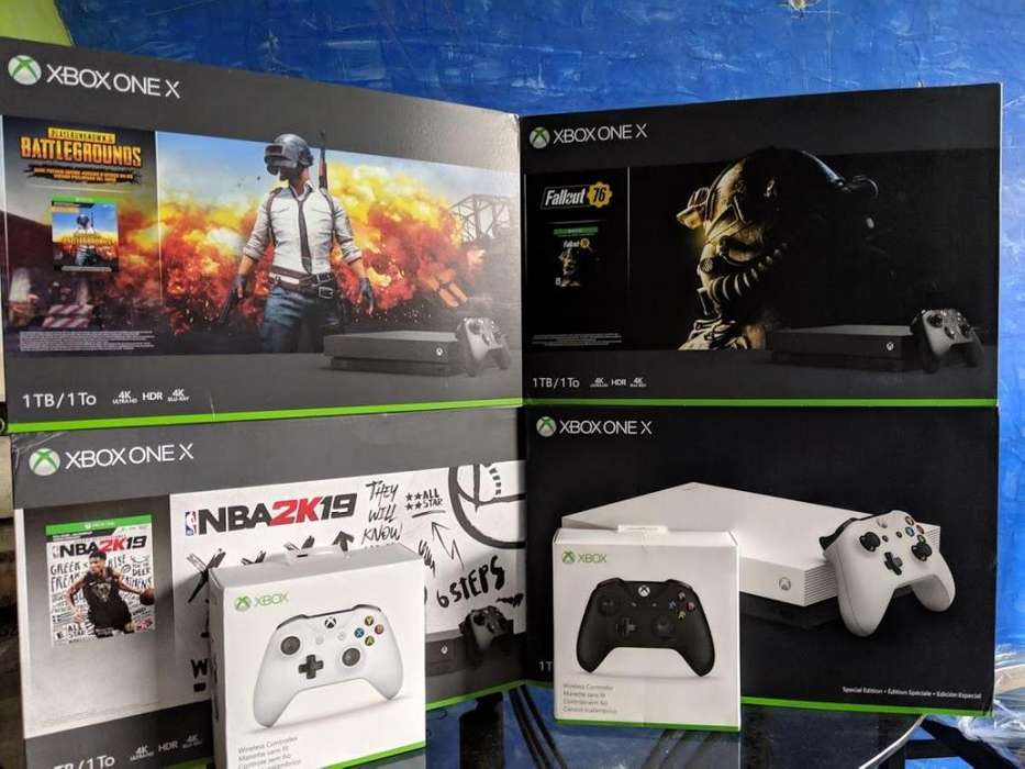 Consola Xbox One X nueva 1 TB Juego
