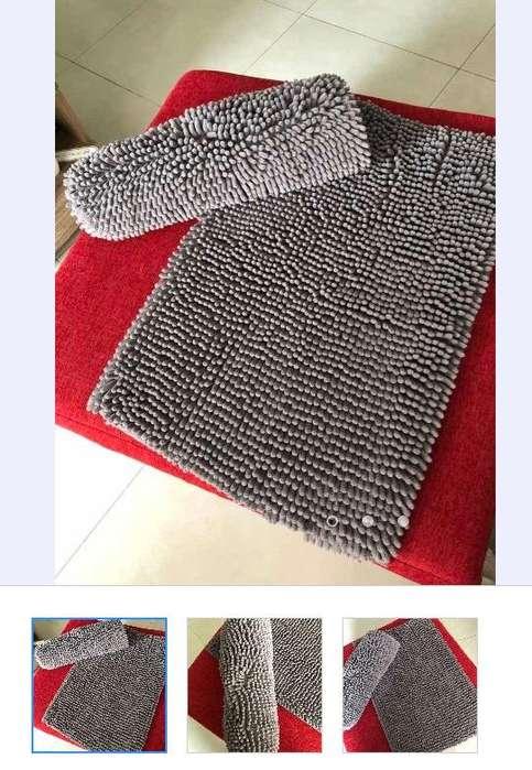 Kit X2 <strong>alfombra</strong>s Ideal Dormitorio O Baño